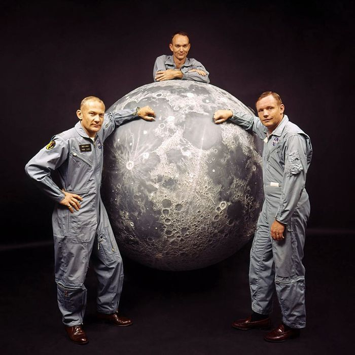 Ralph Morse / Getty Images1969: Buzz Aldrin, Michael Collins and Neil Armstrong,