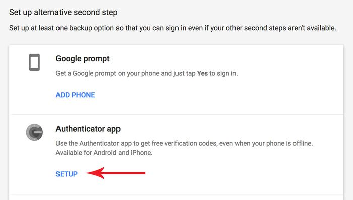 Setup an Authenticator app
